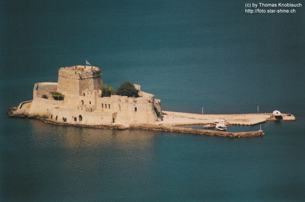 Bourtzi Fort at Nafplio harbour