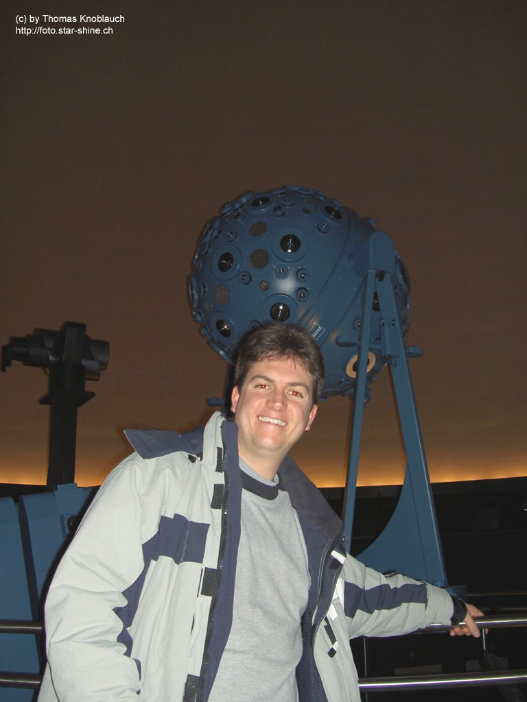 Zeiss starprojector Model IX in Prater Planetarium with me