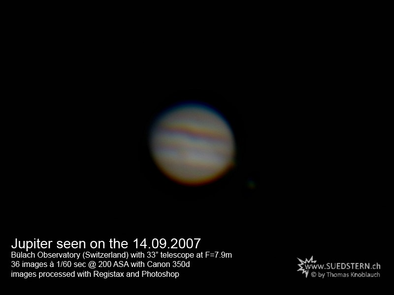 2007-09-14 - Jupiter at Bülach Observatory