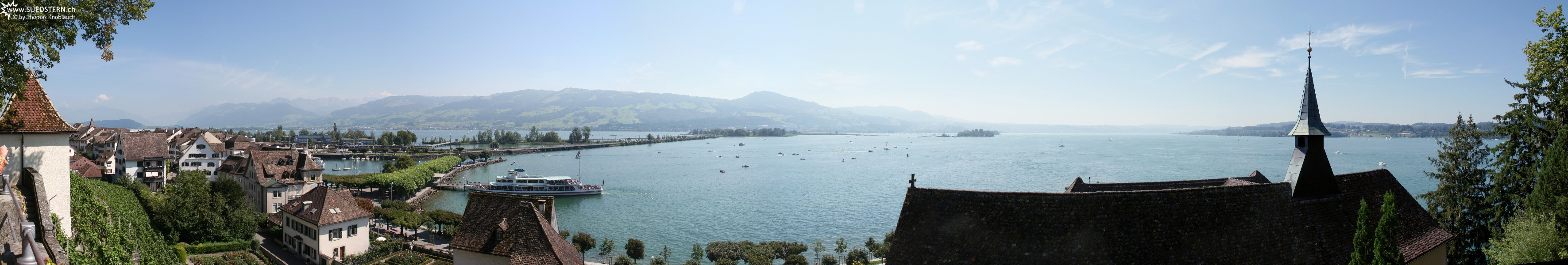 2007-08-05 - Panoramic view from Schloss Rapperswil