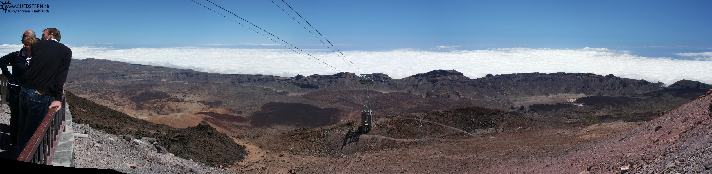 2007-09-06 - 10 - Teneriffa, panorama direction south from Teide mountain station altitude 3500m