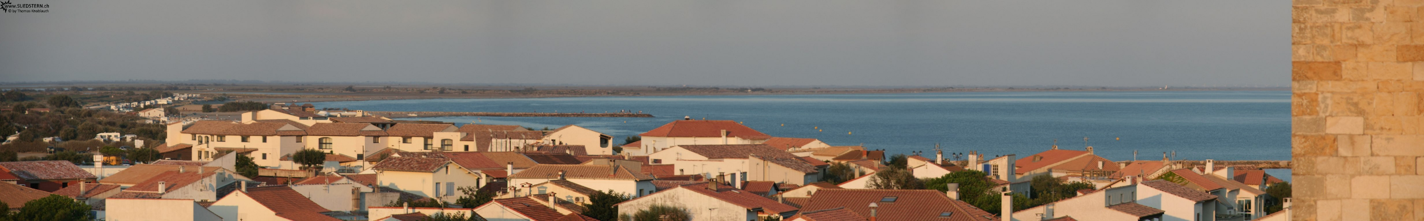 2008-08-28 - Panorama from st. maries de la mer made on top of the churchs rooftop, france