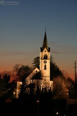 church at sundown, jona