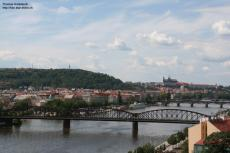 view across Vltava, Prague, Czechia