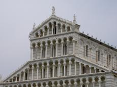Decoration of the front entrance of the Dome of Pisa