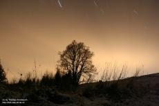 Star-trails in a winter's night